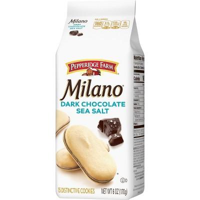 Pepperidge Farm Milano Dark Chocolate Sea Salt Cookies - 6oz