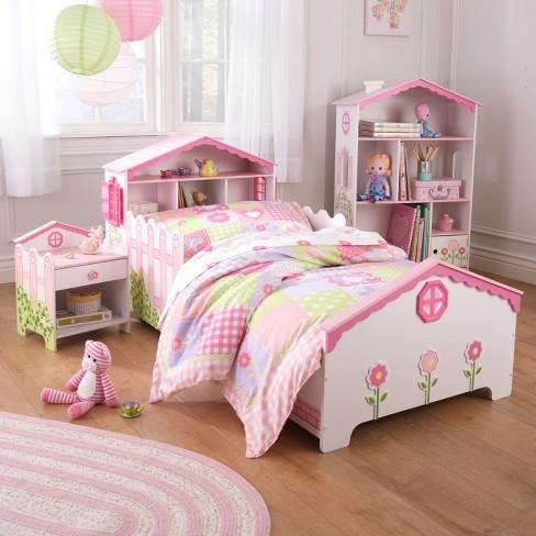 Kidkraft Dollhouse Toddler Bed Pink White Target