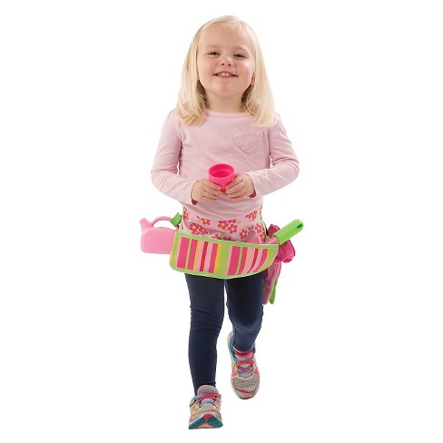 Melissa & Doug® Sunny Patch Blossom Bright Garden Tool Belt Set With Gloves, Trowel, Watering Can, and Pot - image 1 of 4