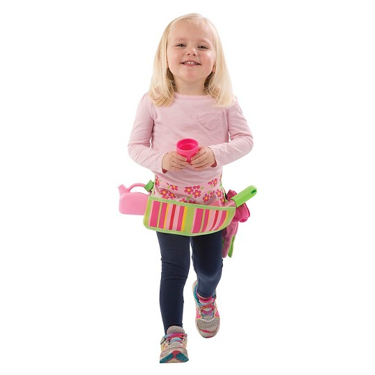 Melissa & Doug Sunny Patch Blossom Bright Garden Tool Belt Set With Gloves, Trowel, Watering Can, and Pot image number null