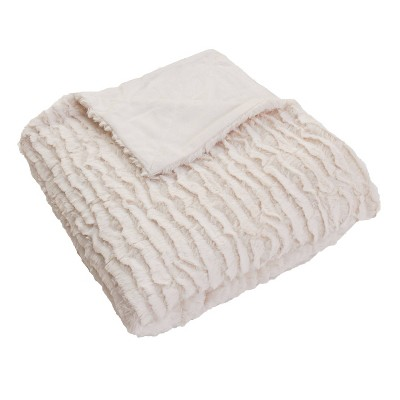 2pk Rachel Ruffle Square Throw Pillows and Throw Blanket White - Décor Therapy