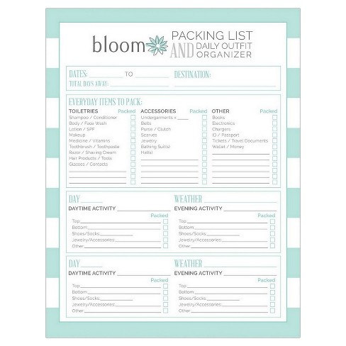 "Packing List Pad (8.5""x11"") - Bloom - image 1 of 2"