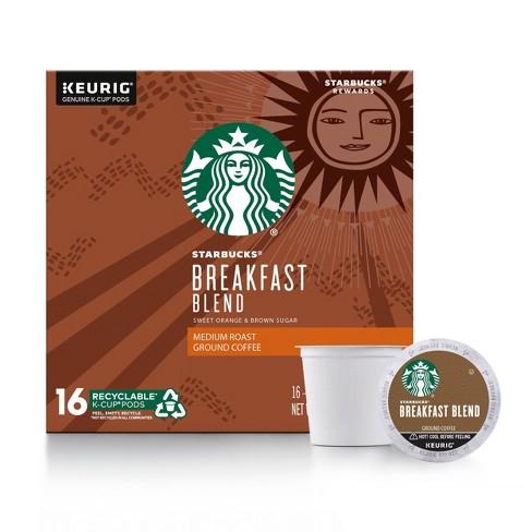 Starbucks Coffee Breakfast Blend Medium Roast Coffee - Keurig K-Cup Pods - 16ct - image 1 of 4