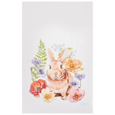 C&F Home Sunny Bunny I Embroidered Cotton Kitchen Towel