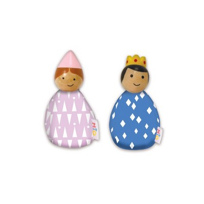 MiO Bean Bag Royal People Imaginative Play Character Peg Dolls Montessori Style STEM Learning Wooden Building Accessory for 3 Years + Up by Manhattan Toy