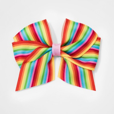 Girls' Rainbow Stripe Bow Salon Clip - Cat & Jack™