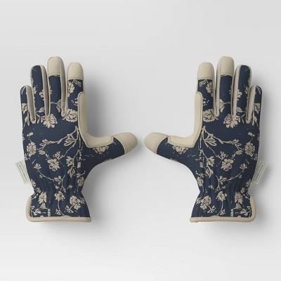 Work Gloves Woodcut Floral/Sour Cream White - Smith & Hawken™