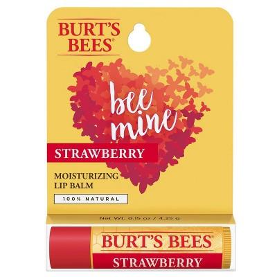Burt's Bees Bee Mine Moisturizing Lip Balm - Strawberry - 0.15oz