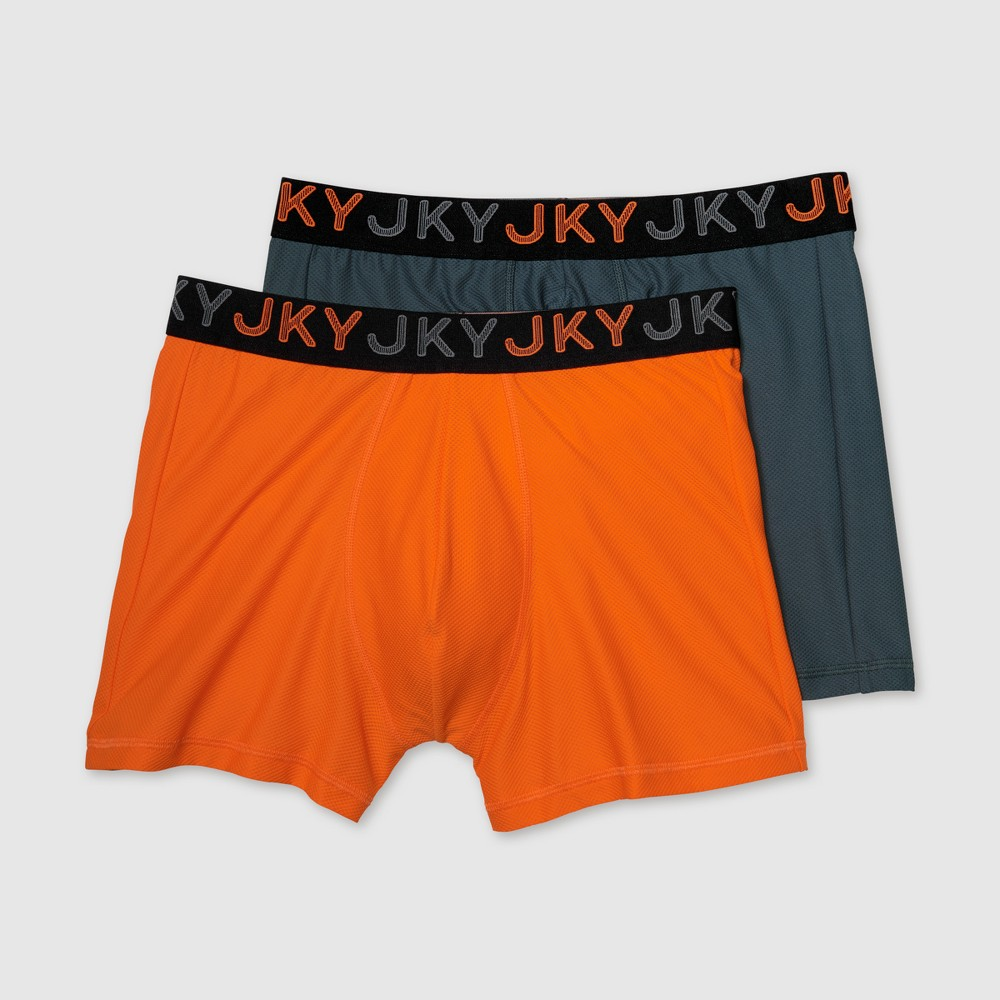 Jky by Jockey Men's Ready for Anything Mesh Stretch Boxer Briefs 2pk - XL, Multi-Colored