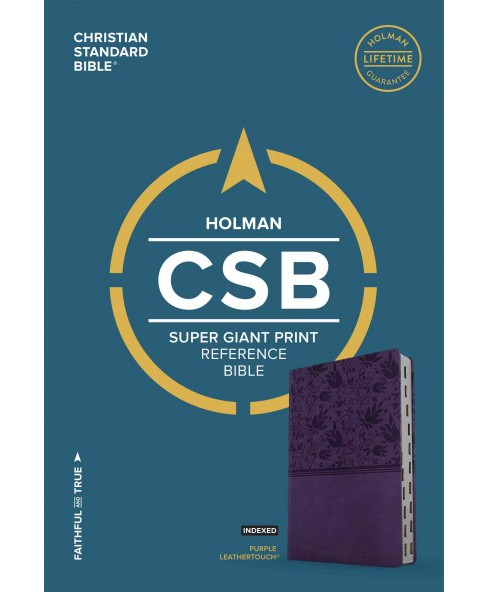 Holy Bible : Holman Christian Standard Bible, Purple Leathertouch, Super Giant Print Reference - image 1 of 1
