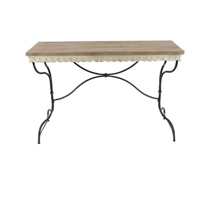 Distressed Console Table Brown - Olivia & May