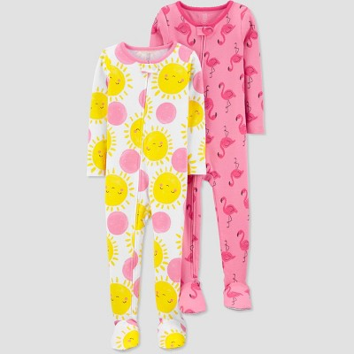 Toddler Girls' 2pk Flamingo/Sun Footed Pajama - Just One You® made by carter's Pink