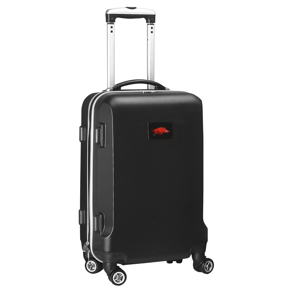 NCAA Arkansas Razorbacks Black Hardcase Spinner Carry On Suitcase