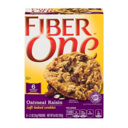 Fiber One Oatmeal Raisin Cookies - 6.6oz - image 1 of 3
