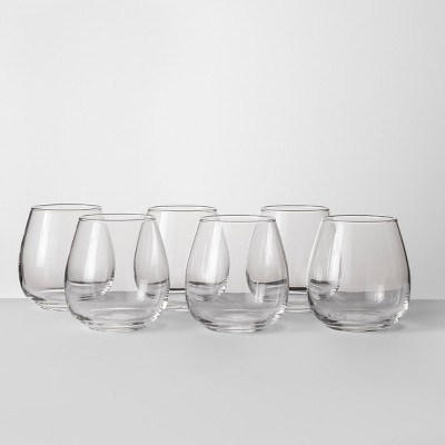 16oz Stackable Stemless Wine Glasses Set of 6 - Made By Design™