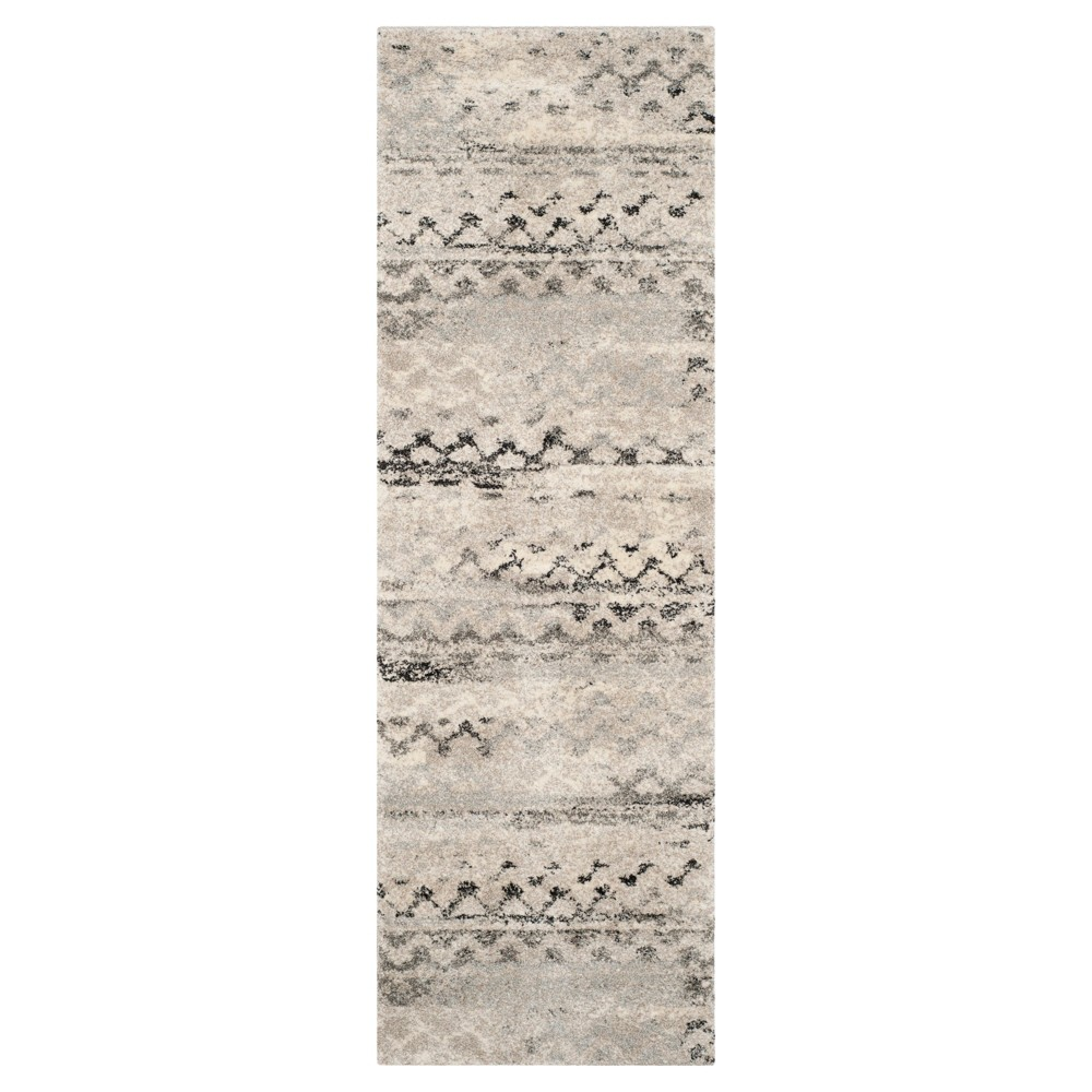 Marea Runner - Cream / Gray ( 2' 3 X 7' ) - Safavieh, Beige