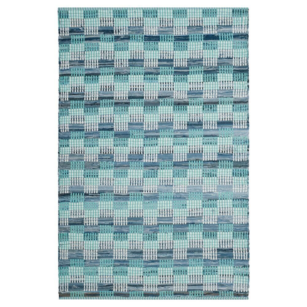 Geometric Flatweave Woven Area Rug 4'X6' - Safavieh, Turquoise/Multicolor