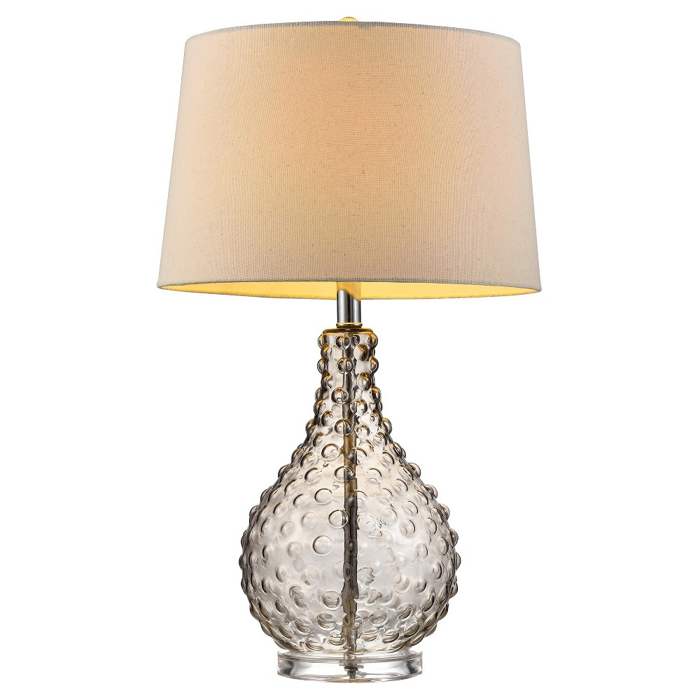 Image of Castlerock 27 Glass Table Lamp Beige (Includes Energy Efficient Light Bulb) - Ore International