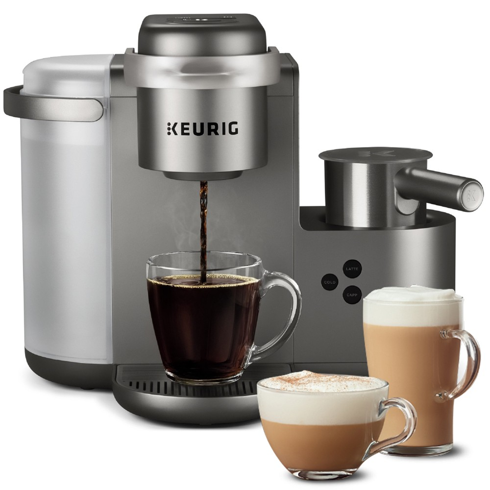 Keurig K-Cafe Special Edition Single Serve Coffee, Latte, & Cappuccino Maker – Nickel 53536794