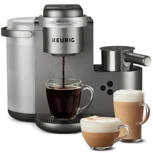 Keurig K Cafe Special Edition Single Serve Coffee Latte Cuccino Maker Nickel