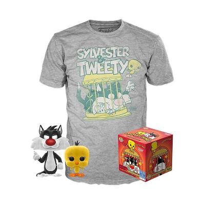 Funko POP! Animation Collectors Box: Looney Tunes - Sylvester & Tweety (Flocked) POP! & Tee