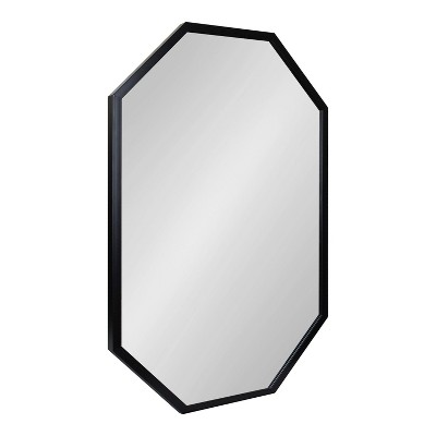 "24"" x 36"" Laverty Octagon Wall Mirror Black - Kate & Laurel All Things Decor"