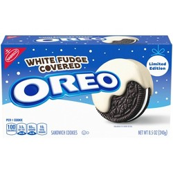 Oreo White Fudge Covered Sandwich Cookies - 8.5oz