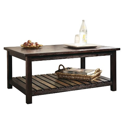 Mestler Rectangular Cocktail Table Rustic Brown   Signature Design By Ashley  : Target