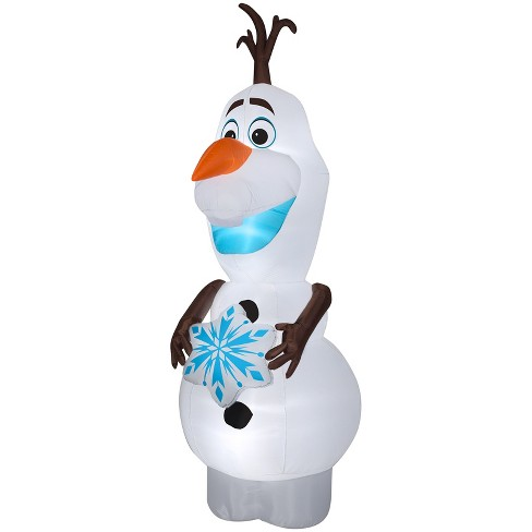 Gemmy Christmas Airblown Inflatable Olaf W Snowflake Giant Disney 11 Ft Tall White Target