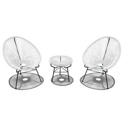 Acapulco 3pc Patio Set with Table - Infinity