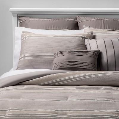 8pc Queen Farrah Comforter Set Tan
