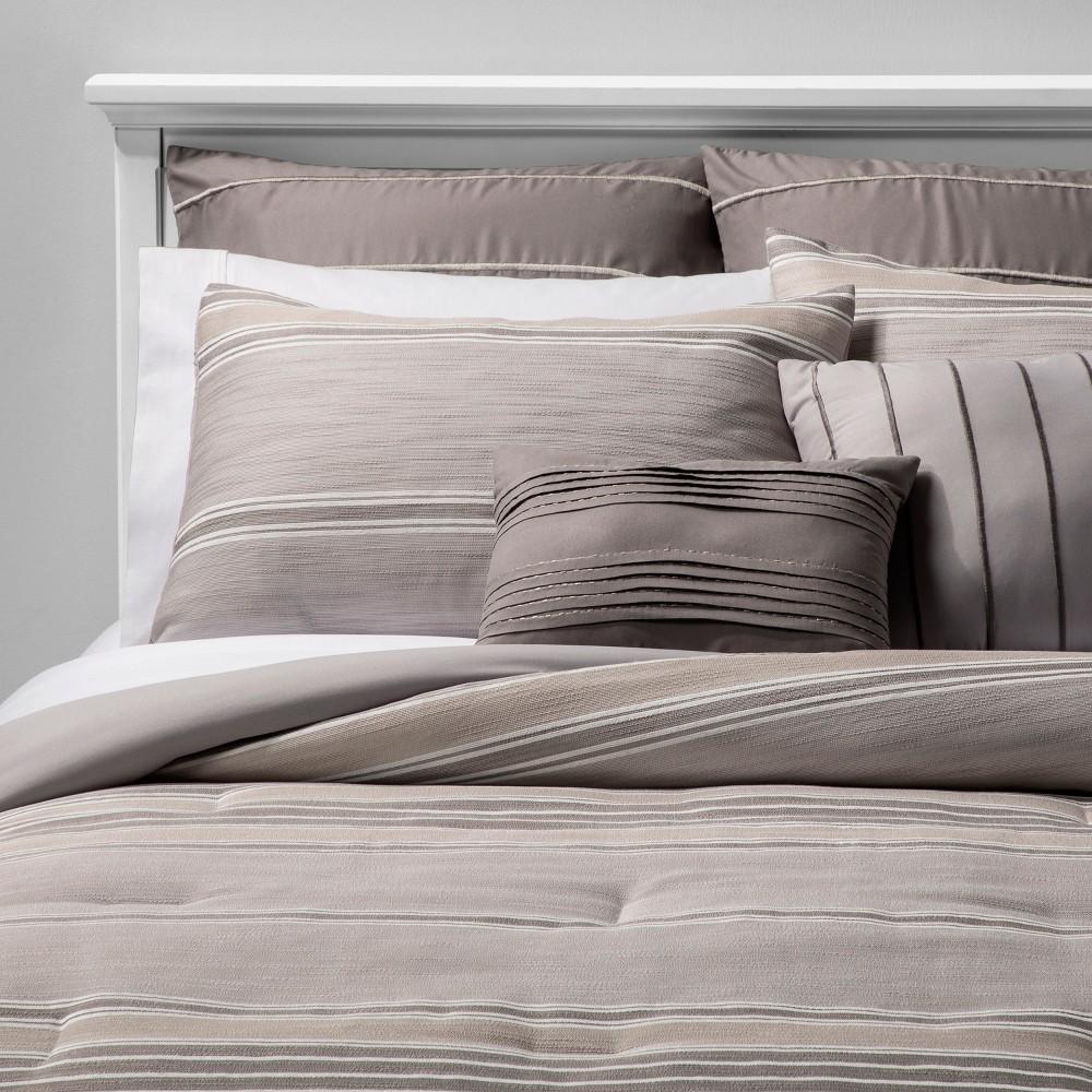Image of 8pc King Farrah Comforter Set Tan, Beige