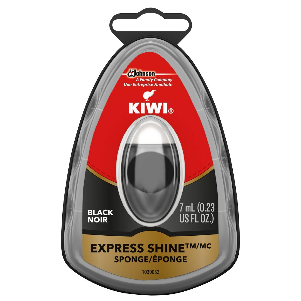Image of Kiwi Express Shine Sponge - Black, Kids Unisex, Size: Small