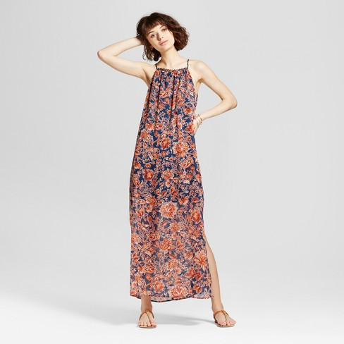 Women's High-neck Printed Maxi Dress - Xhilaration™ (Juniors') - image 1 of 2