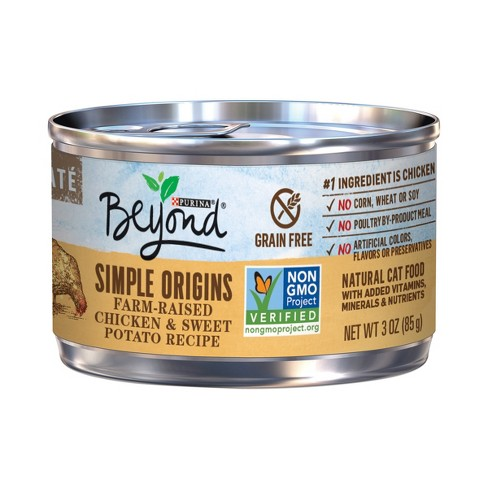 Purina Beyond Cat Food >> Purina Beyond Grain Free Natural Pate Wet Cat Food Simple Origins Chicken Sweet Potato Recipe 3oz Can