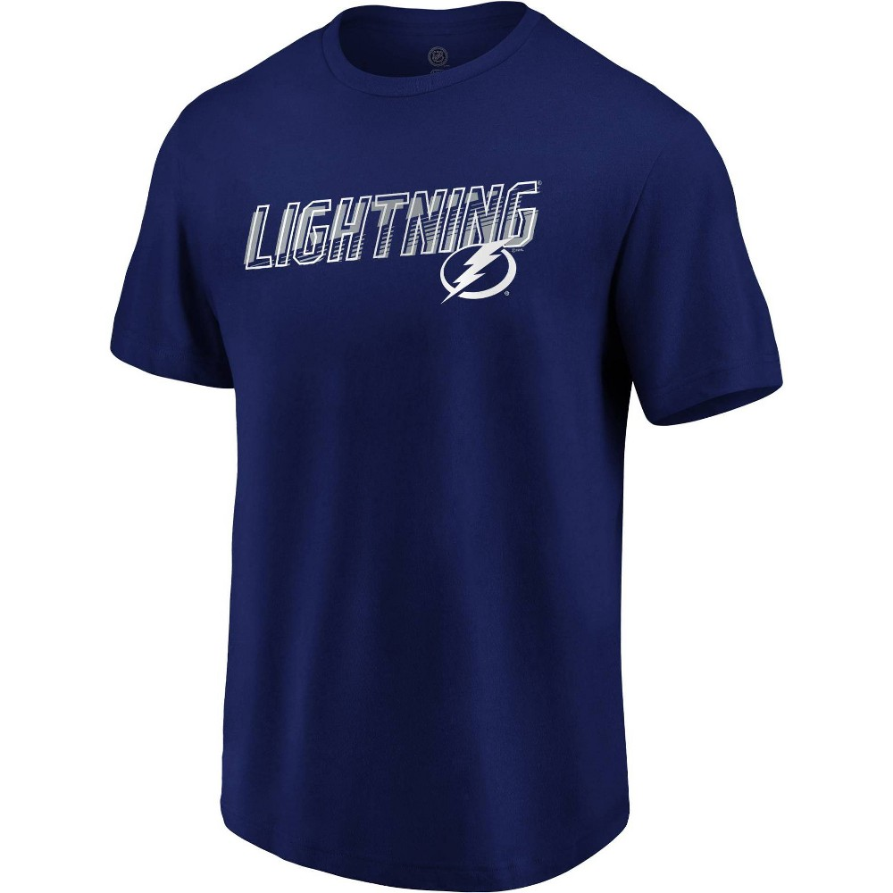 Nhl Tampa Bay Lightning Men 39 S Engage Horizon Short Sleeve T Shirt L
