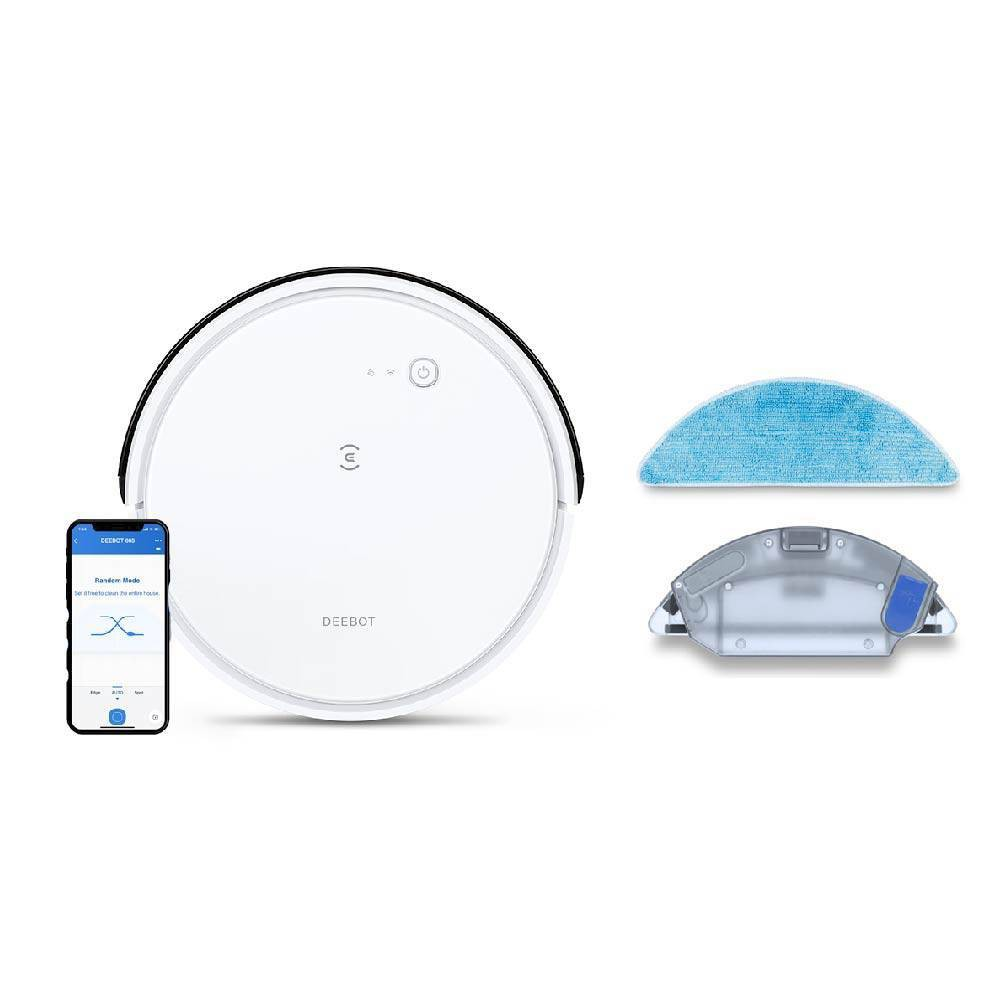 Ecovacs Deebot 665 Multi-Surface Wi-Fi and App Controlled Robotic Vacuum and Mop - White