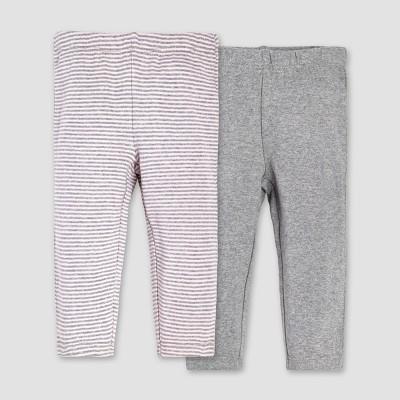 Burt's Bees Baby® Girls' Organic Cotton 2pk Pants Set - Blossom 18M