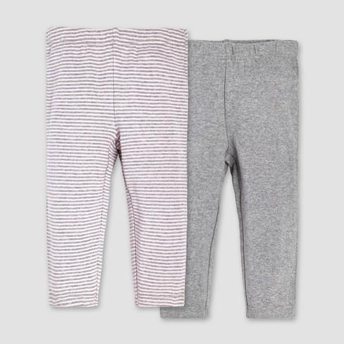 Burt s Bees Baby® Girls  Organic Cotton 2pk Pants Set - Blossom 3-6M ... 6724e735b