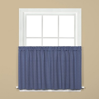 Saturday Knight Ltd Hopscotch Collection High Quality Stylish Versatile & Modern 2-Piece Window Tiers