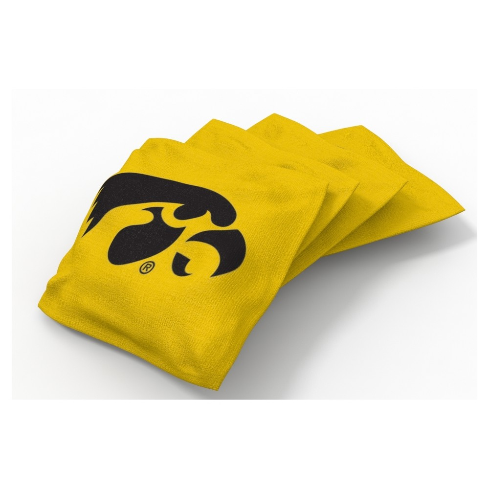 NCAA Iowa Hawkeyes Wild Sports 4pk Regulation Bean Bag Set Alternate