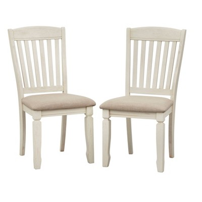 Set of 2 Maryland Dining Chairs White/Gray - Buylateral