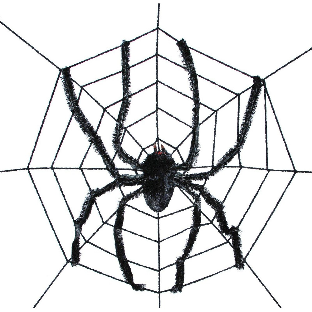 Image of Halloween Giant Spider in Web