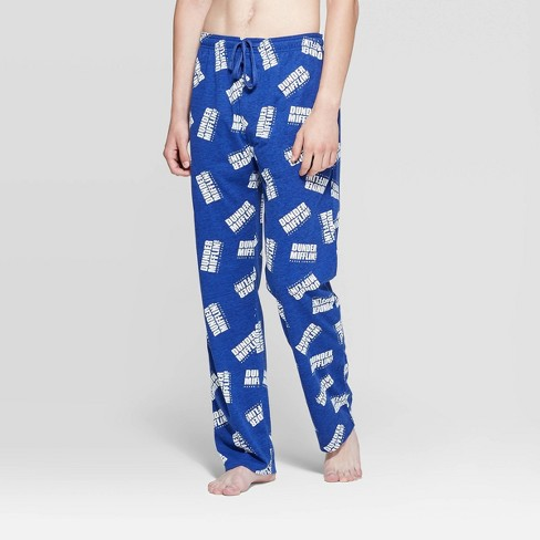 Men's The Office Dunder Mifflin Pajama Pants - Dark Royal - image 1 of 2