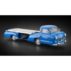 "1954-1955 Mercedes Racing Car Transporter ""The Blue Wonder"" 1/18 Diecast Model Car by CMC"