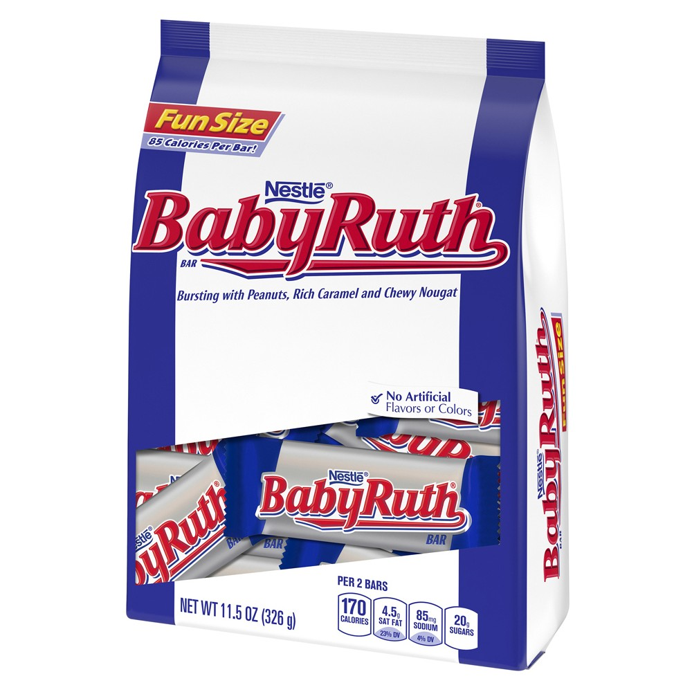 Nestle Baby Ruth Peanuts Caramel and Chewy Nougat Fun Size - 11.5oz