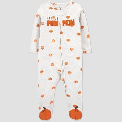Baby Halloween 'Little Pumpkin' Sleep N' Play - Just One You® made by carter's White/Orange 9M