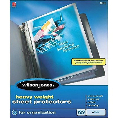 Wilson Jones Top-Loading Sheet Protectors, Heavy WLJ21411