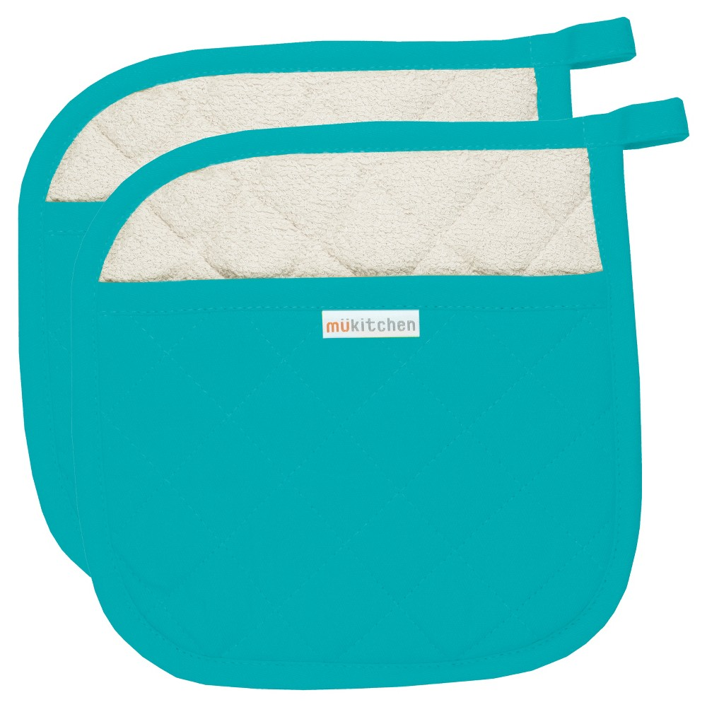 "Image of ""2pk Aqua (Blue) Pot Holder (9""""x9"""") - MUkitchen"""