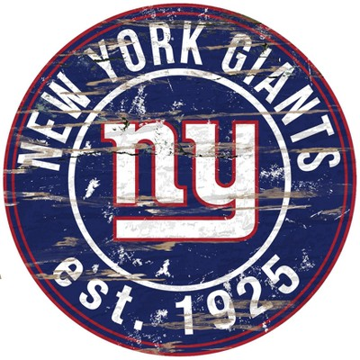 NFL Fan Creations Round Distressed Sign